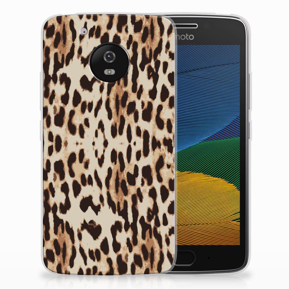 Motorola Moto G5 Uniek TPU Hoesje Leopard