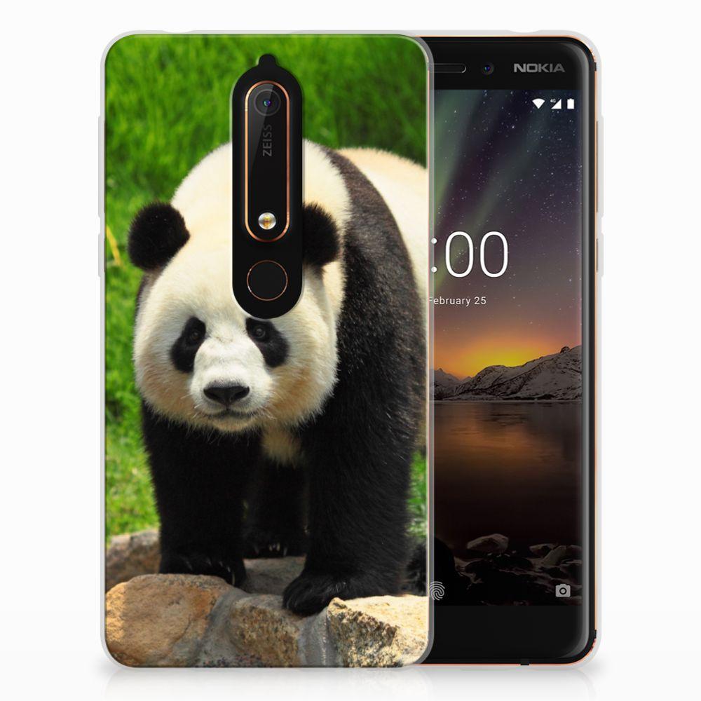 Nokia 6 (2018) TPU Hoesje Panda