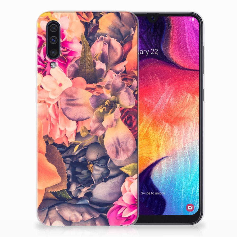 Samsung Galaxy A50 TPU Hoesje Design Bosje Bloemen