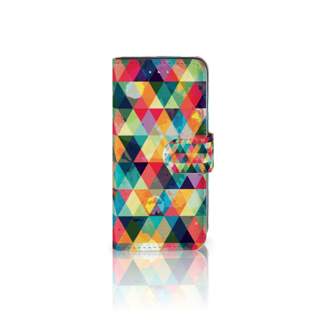 Samsung Galaxy A5 2016 Uniek Boekhoesje Geruit