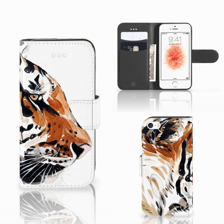 Hoesje Apple iPhone 5 | 5s | SE Watercolor Tiger