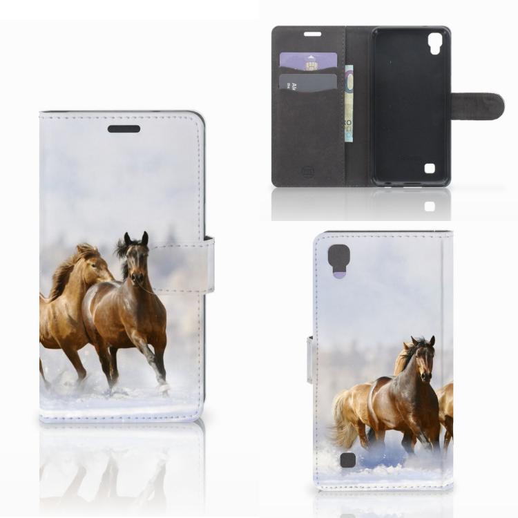 LG X Power Telefoonhoesje met Pasjes Paarden