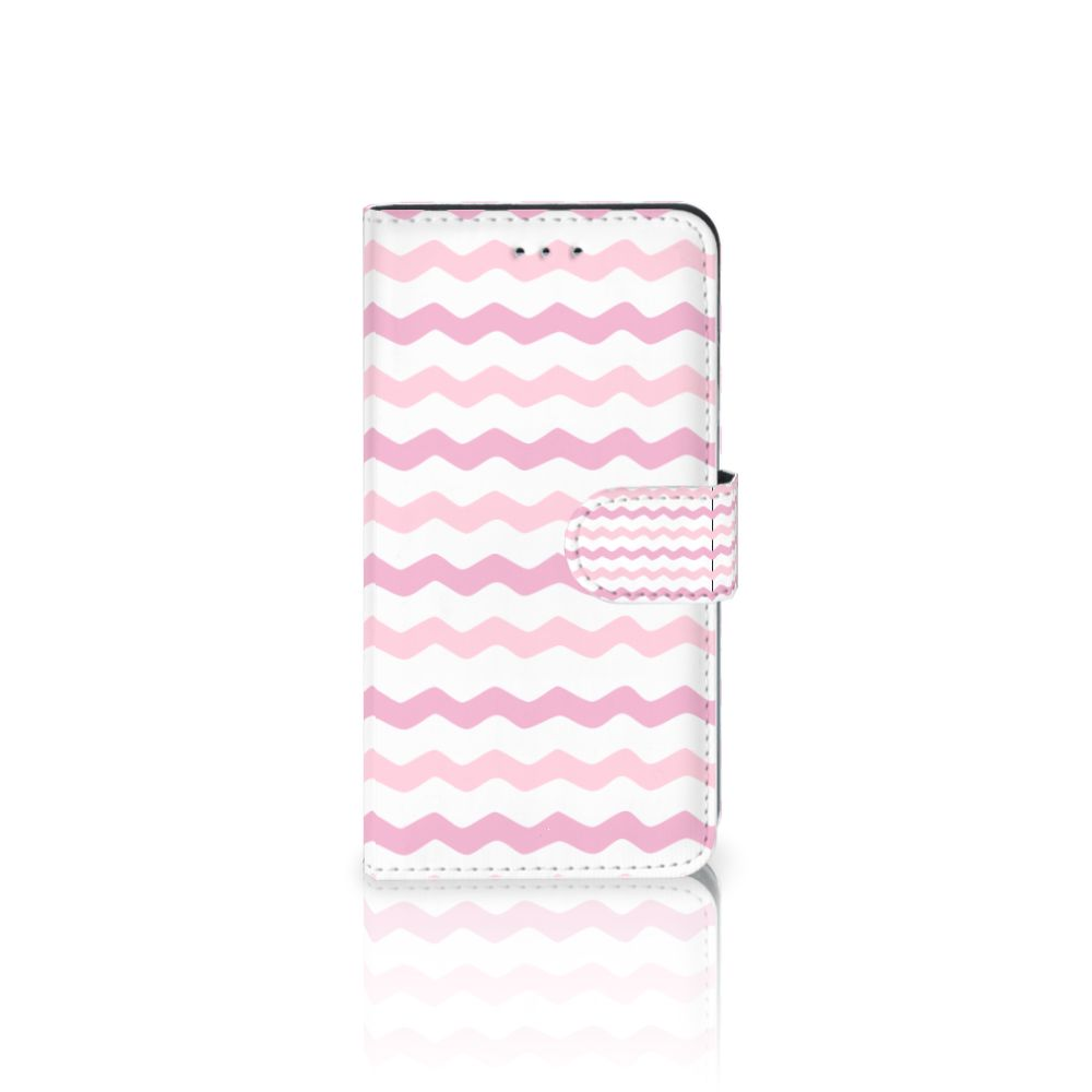 Samsung Galaxy J4 2018 Uniek Boekhoesje Waves Roze