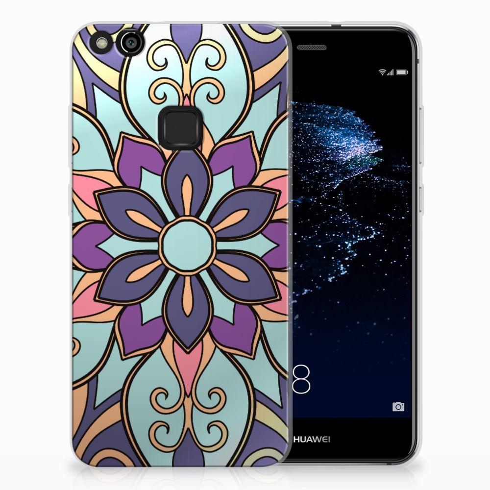 Huawei P10 Lite TPU Hoesje Design Purple Flower