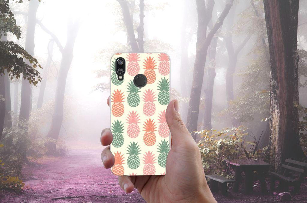 Huawei P20 Lite Siliconen Case Ananas