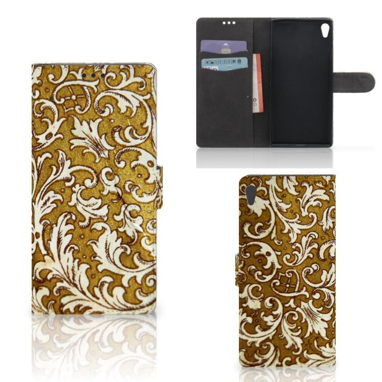 Wallet Case Sony Xperia XA Ultra Barok Goud