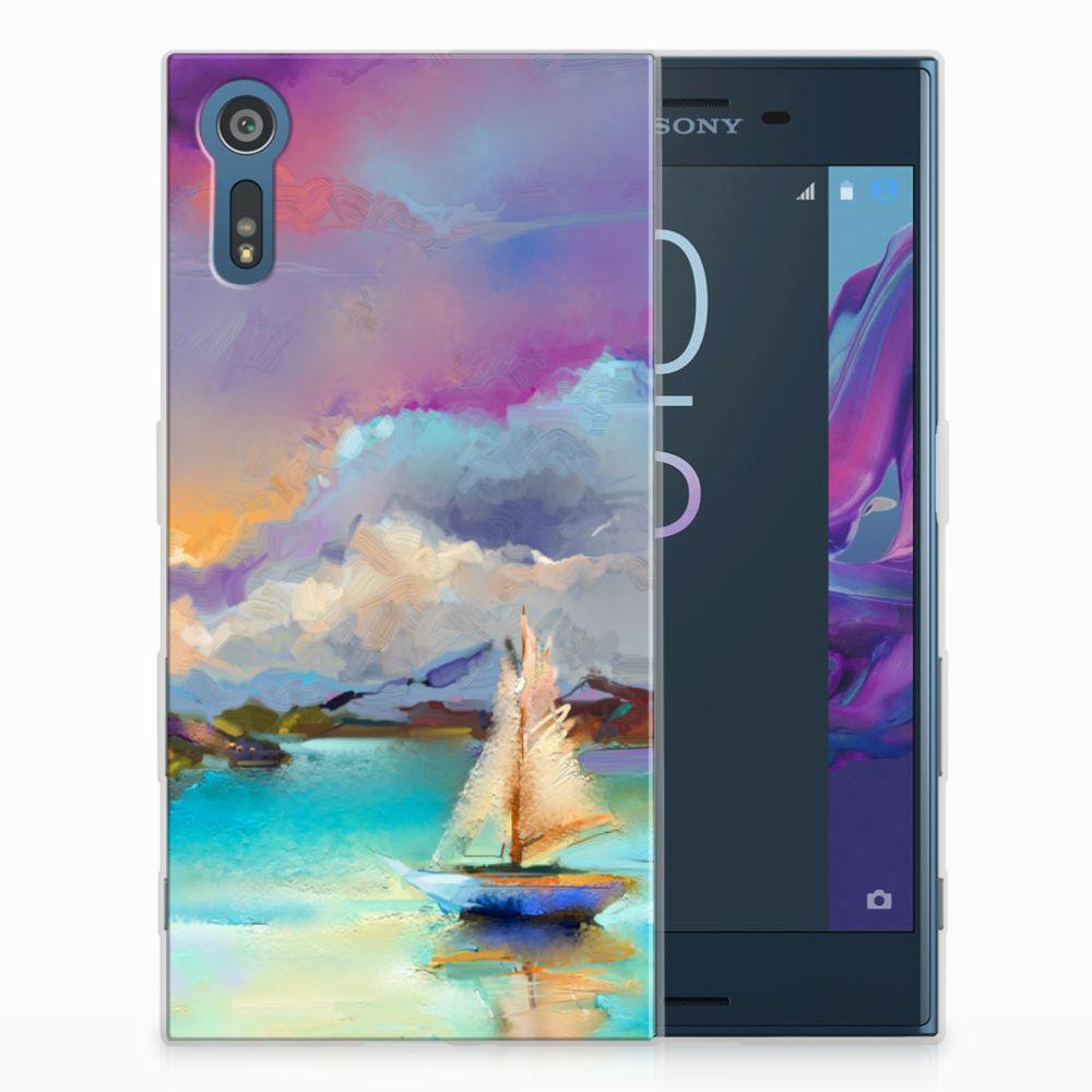 Sony Xperia XZs | XZ Uniek TPU Hoesje Boat