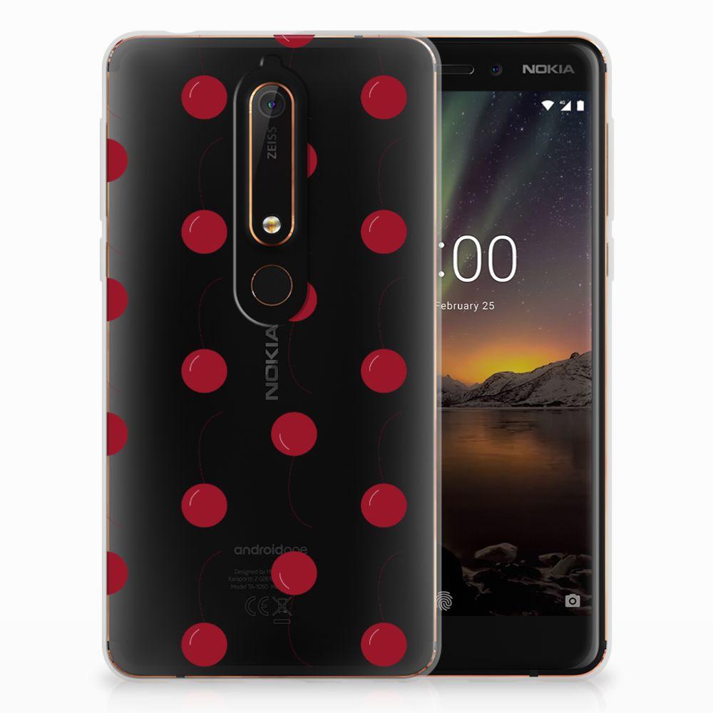 Nokia 6 (2018) Siliconen Case Cherries