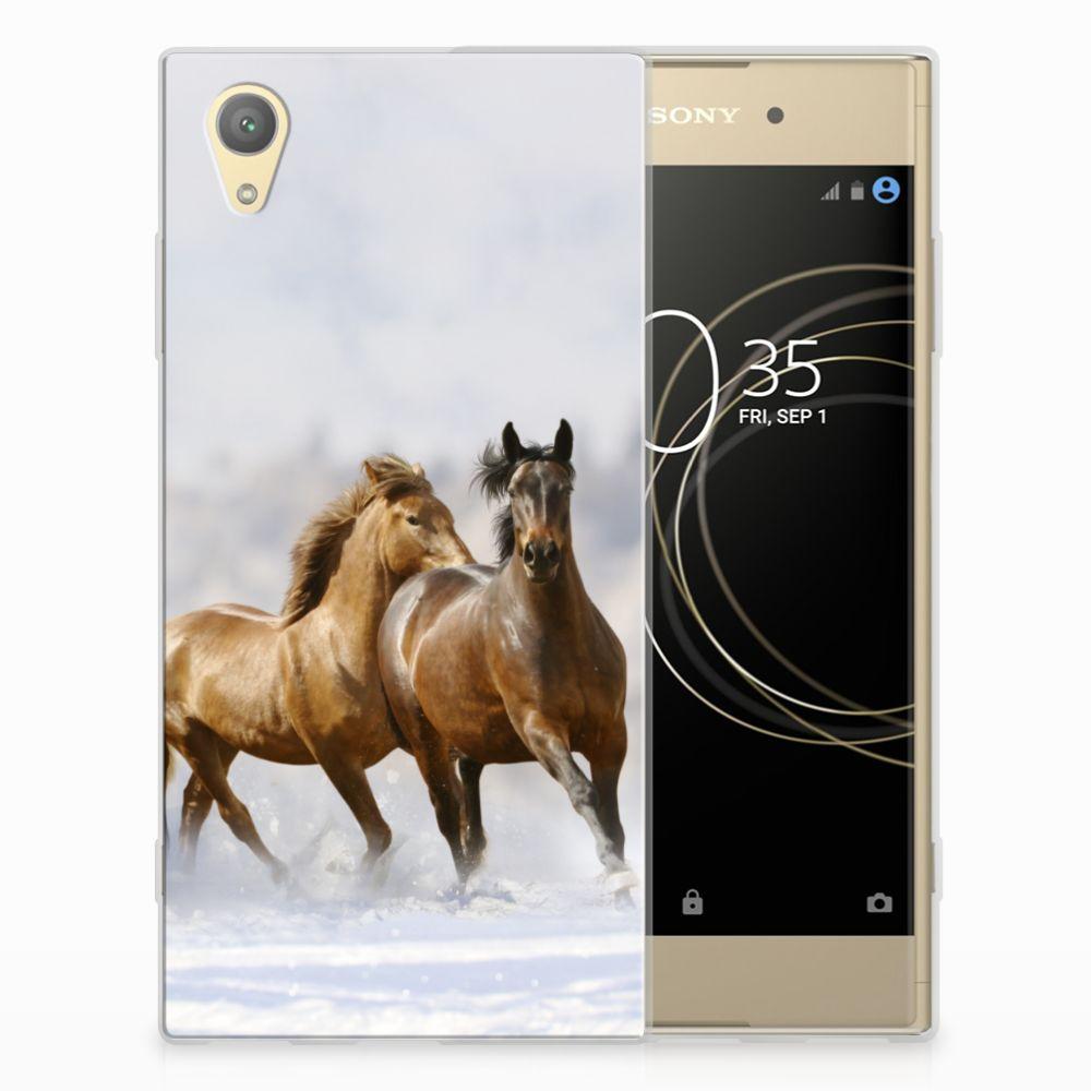Sony Xperia XA1 Plus TPU Hoesje Paarden