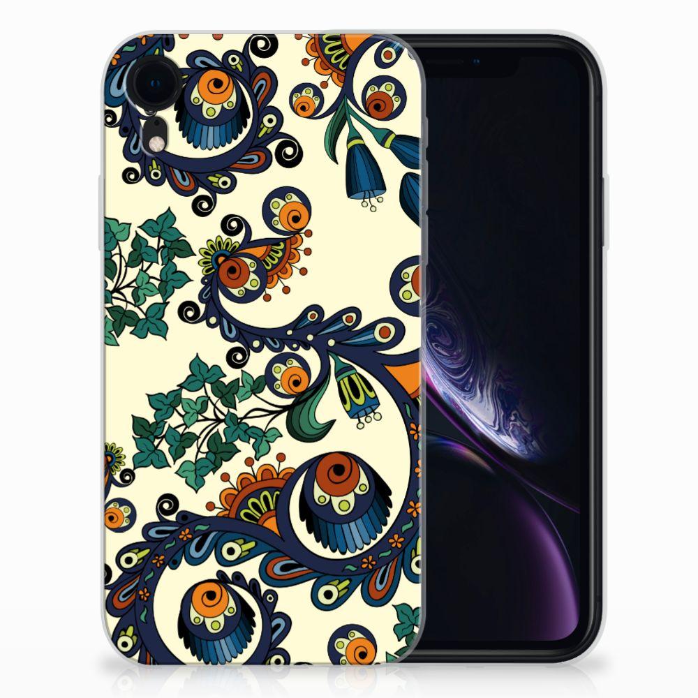 Siliconen Hoesje Apple iPhone Xr Barok Flower