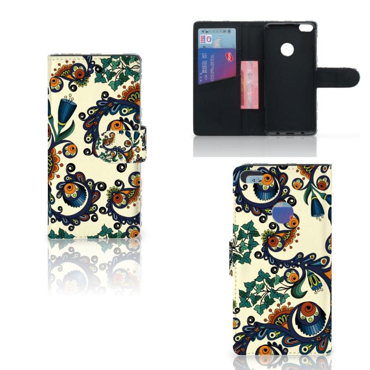 Wallet Case Huawei P8 Lite 2017 Barok Flower