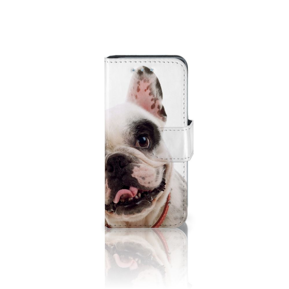 Samsung Galaxy S4 Mini i9190 Telefoonhoesje met Pasjes Franse Bulldog