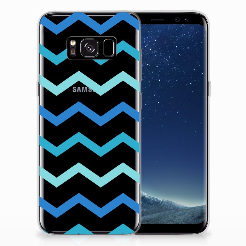 Samsung Galaxy S8 TPU bumper Zigzag Blauw