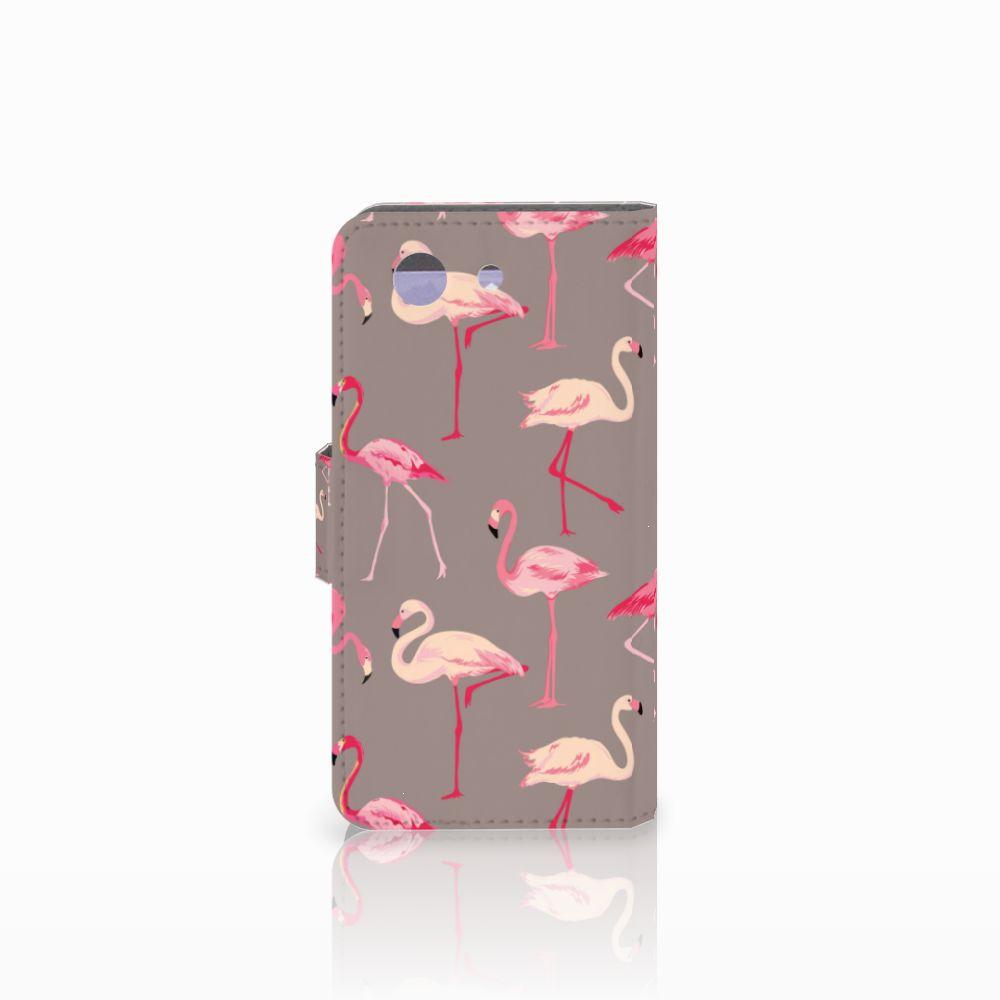 Sony Xperia Z3 Compact Telefoonhoesje met Pasjes Flamingo
