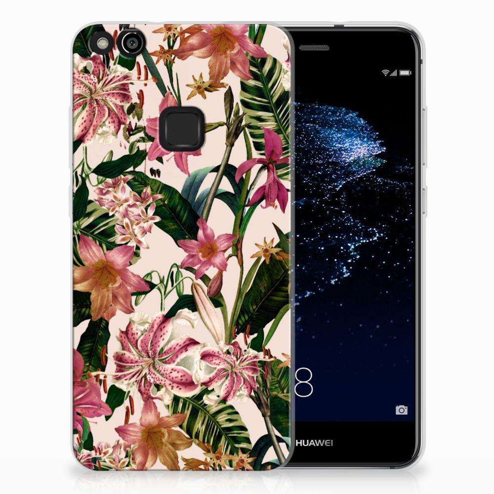 Huawei P10 Lite Uniek TPU Hoesje Flowers
