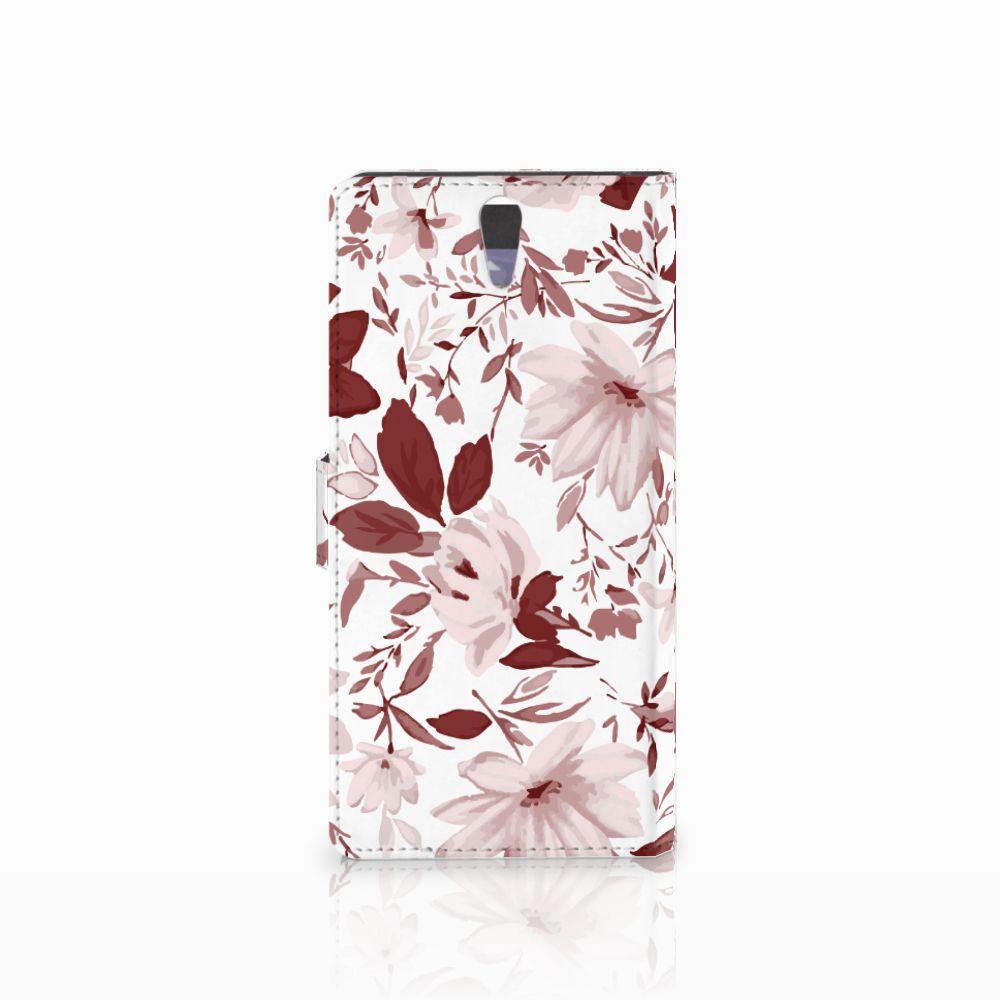 Hoesje Sony Xperia C5 Ultra Watercolor Flowers