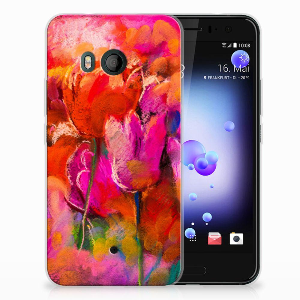 HTC U11 TPU Hoesje Design Tulips