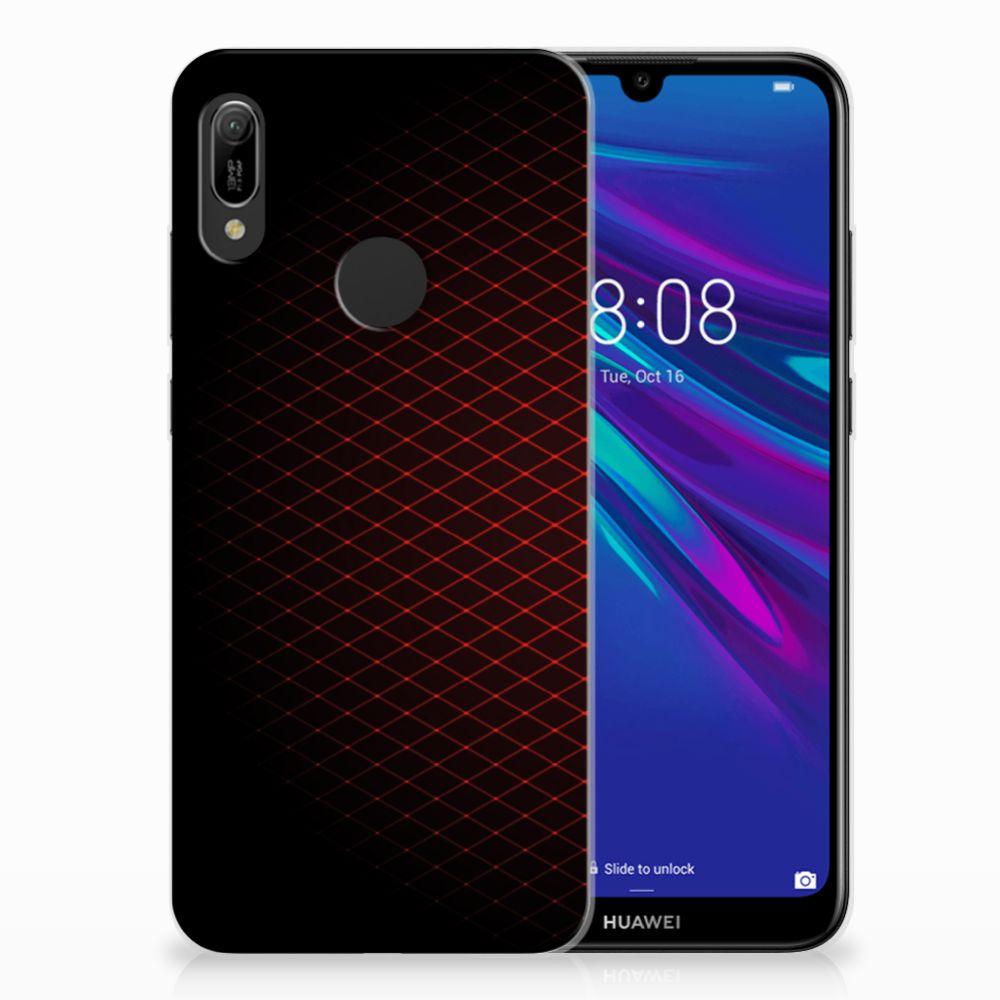 Huawei Y6 2019 | Y6 Pro 2019 Uniek TPU Hoesje Geruit Rood