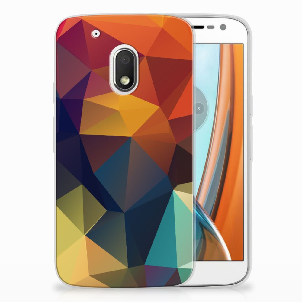 Motorola Moto G4 Play TPU Hoesje Design Polygon Color
