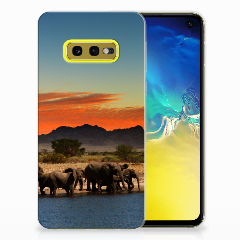 Samsung Galaxy S10e TPU Hoesje Olifanten