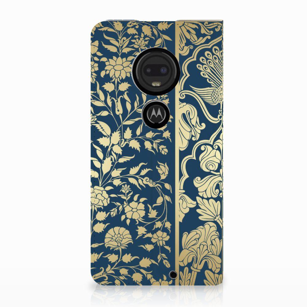 Motorola Moto G7 | G7 Plus Uniek Standcase Hoesje Golden Flowers