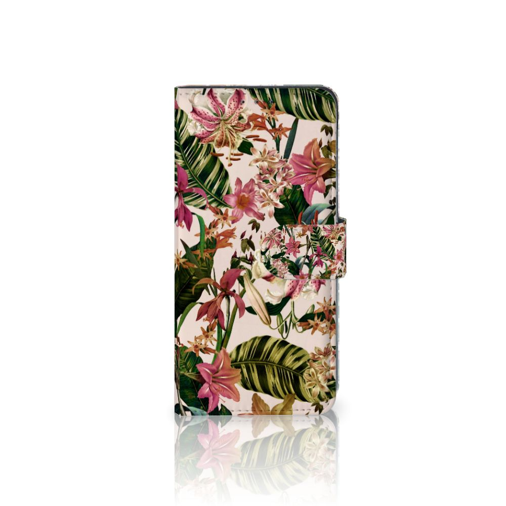 LG V40 Thinq Uniek Boekhoesje Flowers