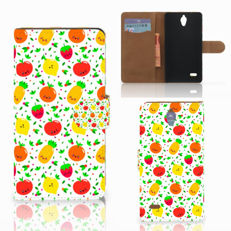 Huawei Ascend G700 Book Cover Fruits