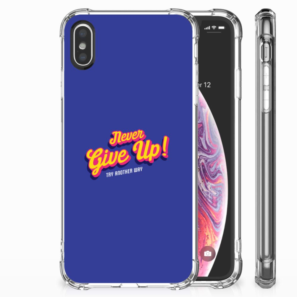 Apple iPhone X | Xs Uniek TPU Hoesje Never Give Up