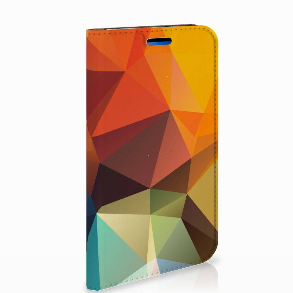 Apple iPhone X | Xs Standcase Hoesje Design Polygon Color
