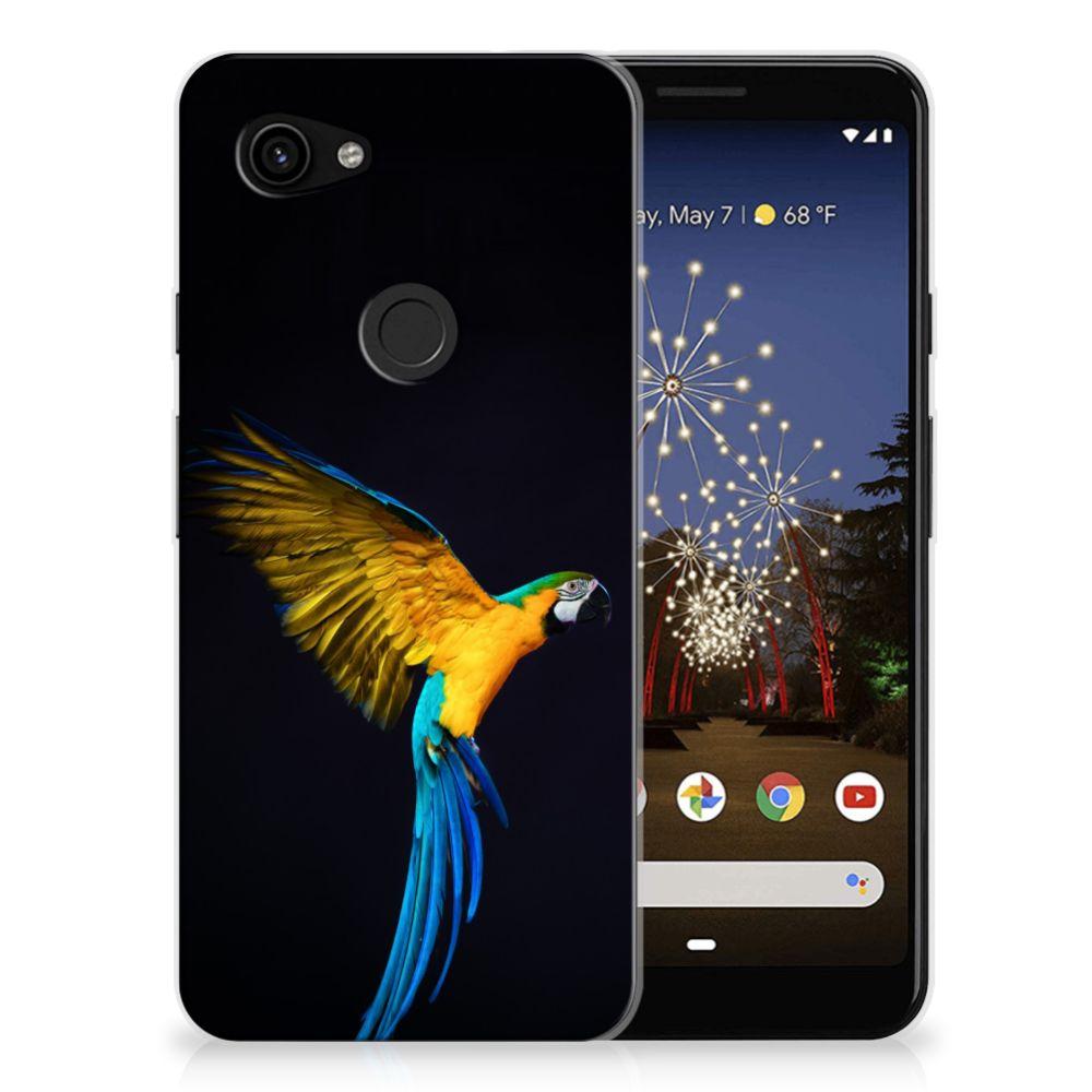 Google Pixel 3A TPU Hoesje Papegaai