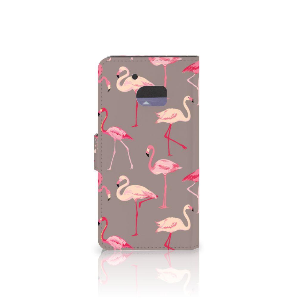 HTC 10 Telefoonhoesje met Pasjes Flamingo
