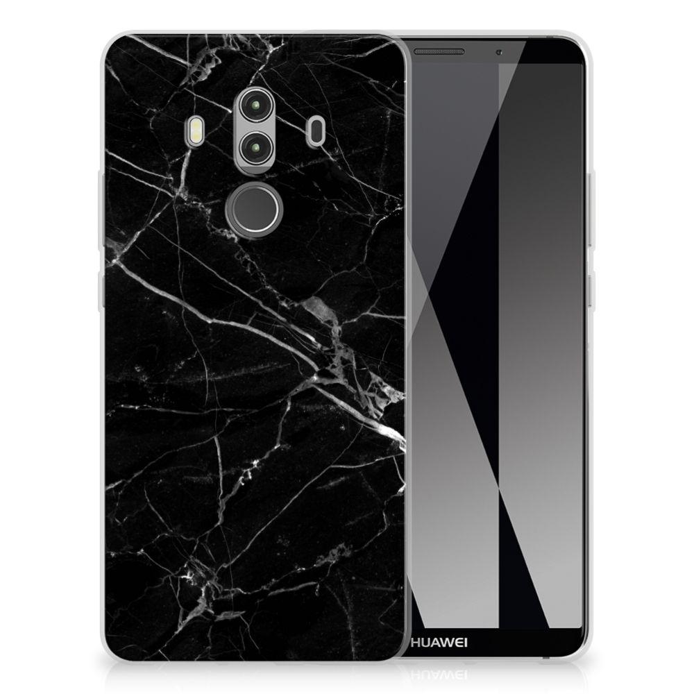 Huawei Mate 10 Pro TPU Siliconen Hoesje Marmer Zwart