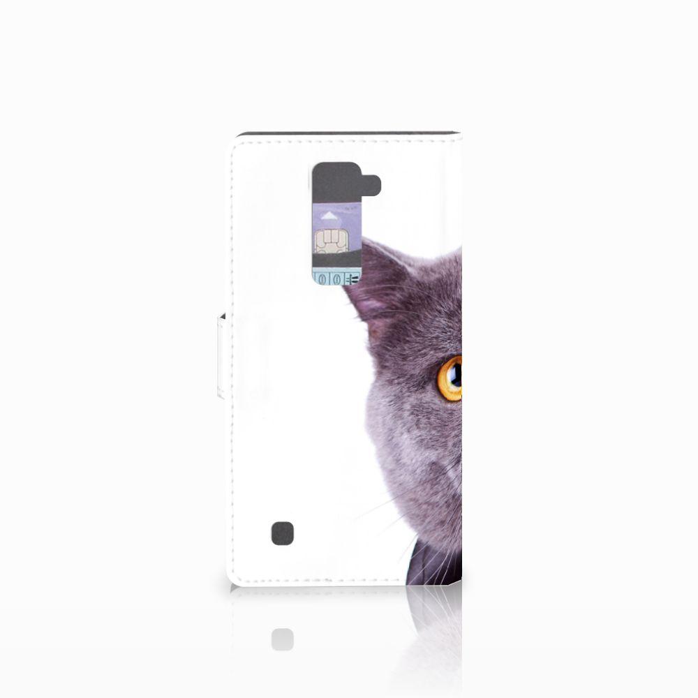 LG K10 2015 Telefoonhoesje met Pasjes Kat
