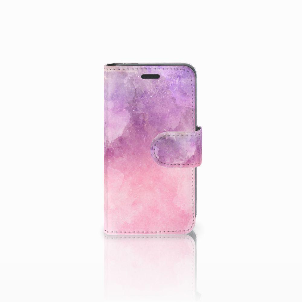 Nokia Lumia 520 Boekhoesje Design Pink Purple Paint