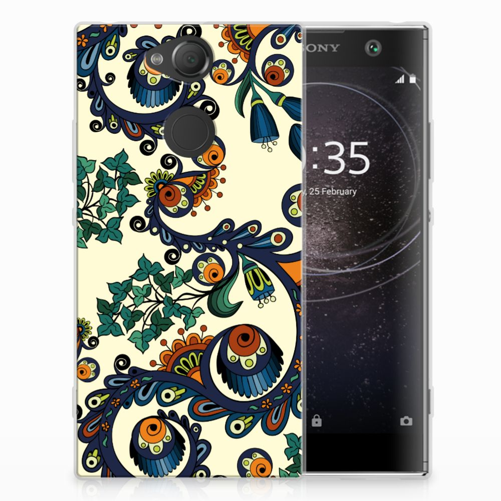 Siliconen Hoesje Sony Xperia XA2 Barok Flower