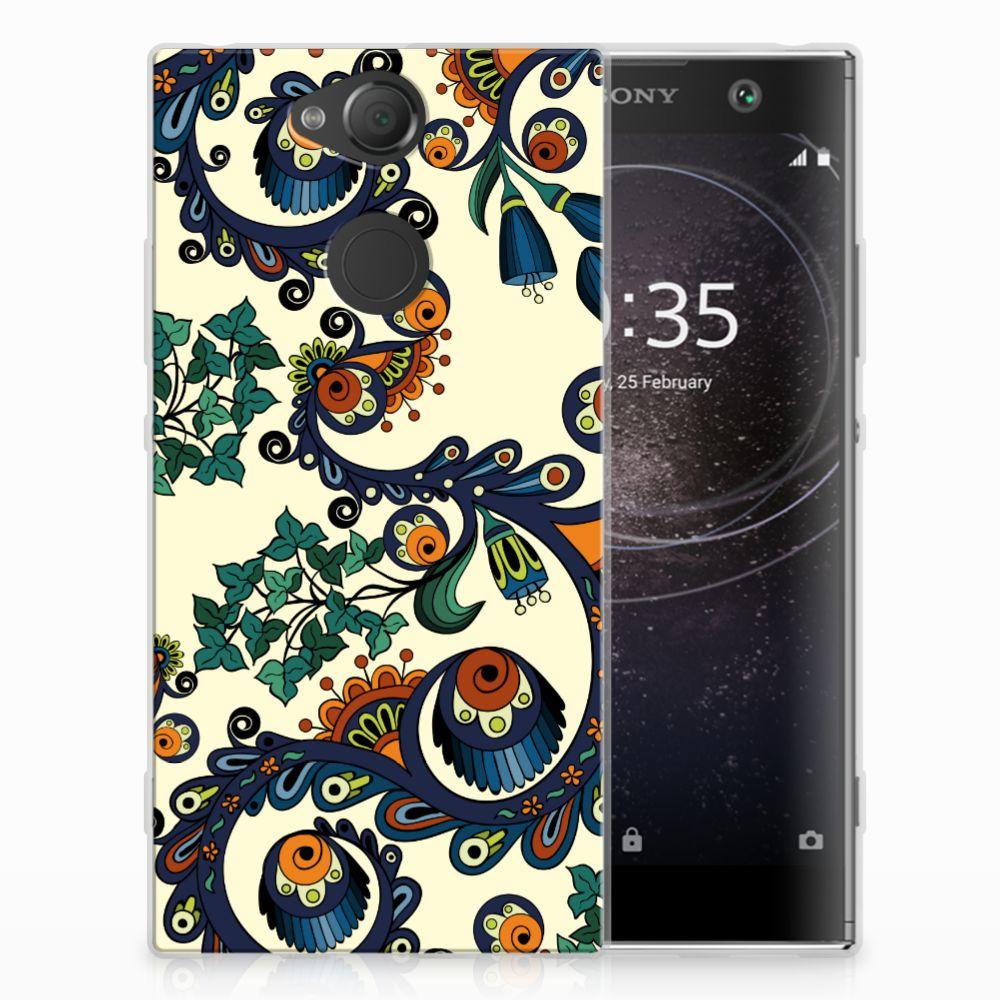 Sony Xperia XA2 TPU Hoesje Design Barok Flower