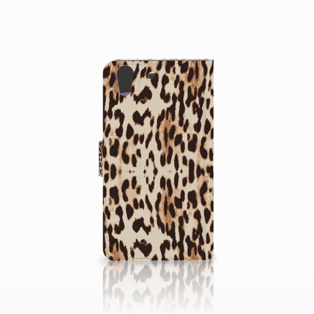 Huawei Y6 II   Honor 5A Telefoonhoesje met Pasjes Leopard