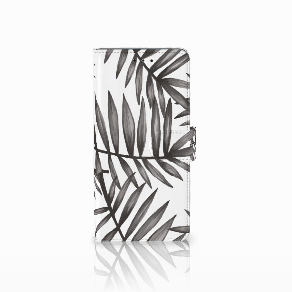 Motorola Moto E5 Plus Uniek Boekhoesje Leaves Grey