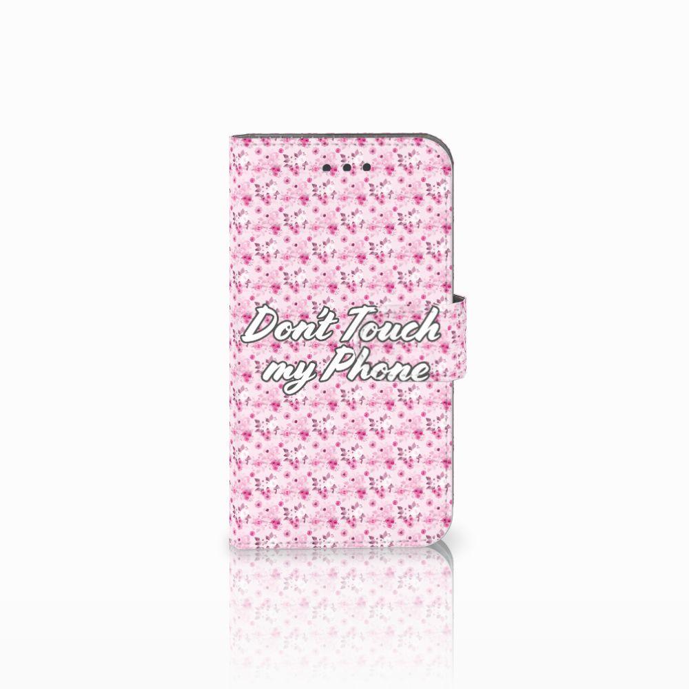 Samsung Galaxy Xcover 3   Xcover 3 VE Uniek Boekhoesje Flowers Pink DTMP
