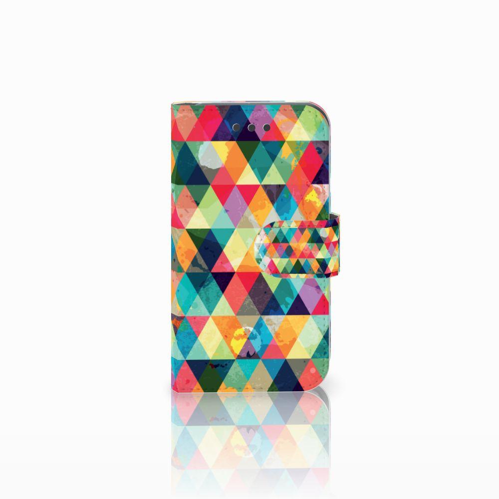 Samsung Galaxy Core 2 Uniek Boekhoesje Geruit