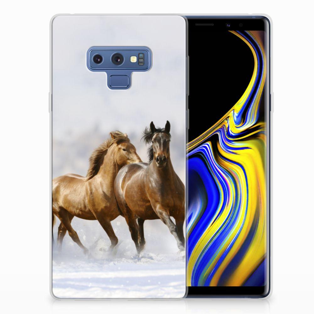 Samsung Galaxy Note 9 Uniek TPU Hoesje Paarden
