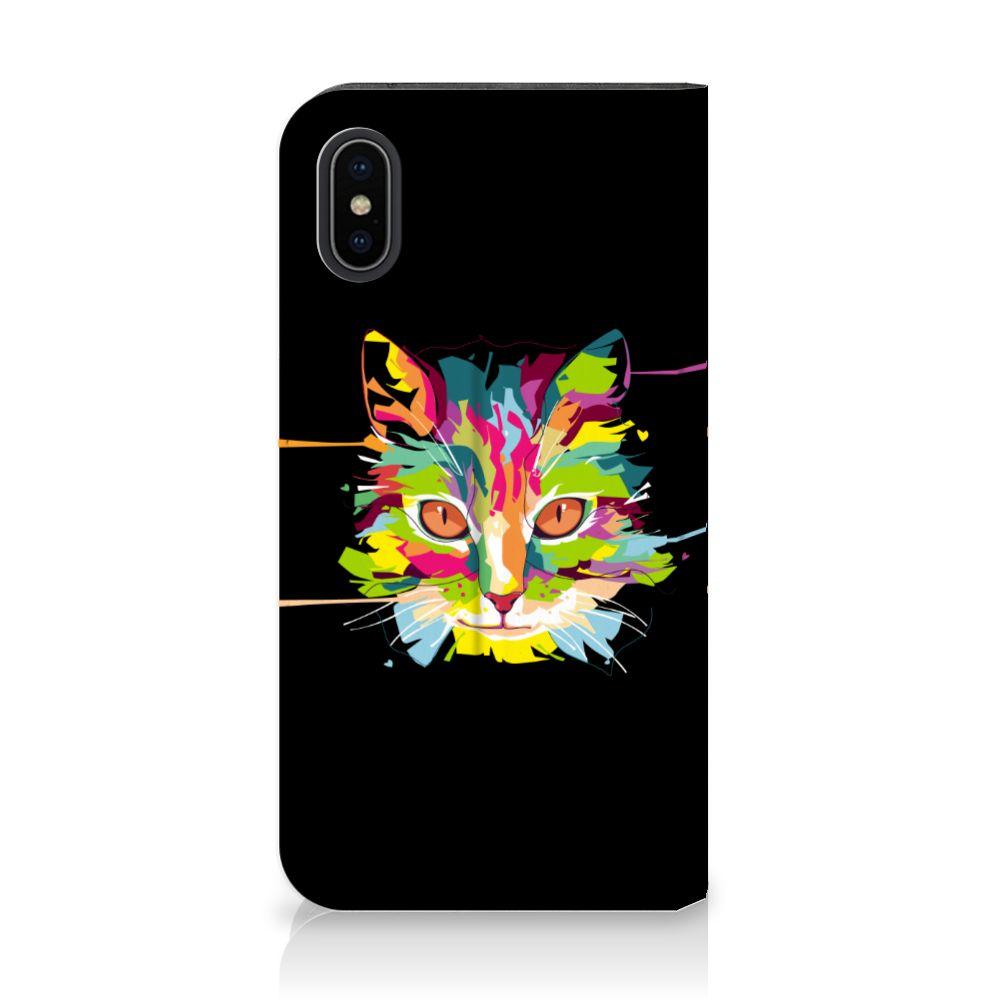 Apple iPhone X | Xs Uniek Standcase Hoesje Cat Color