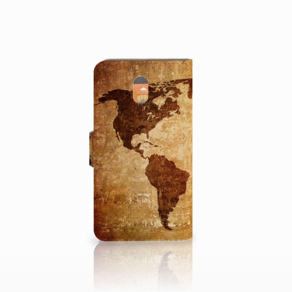 Nokia 3 Flip Cover Wereldkaart