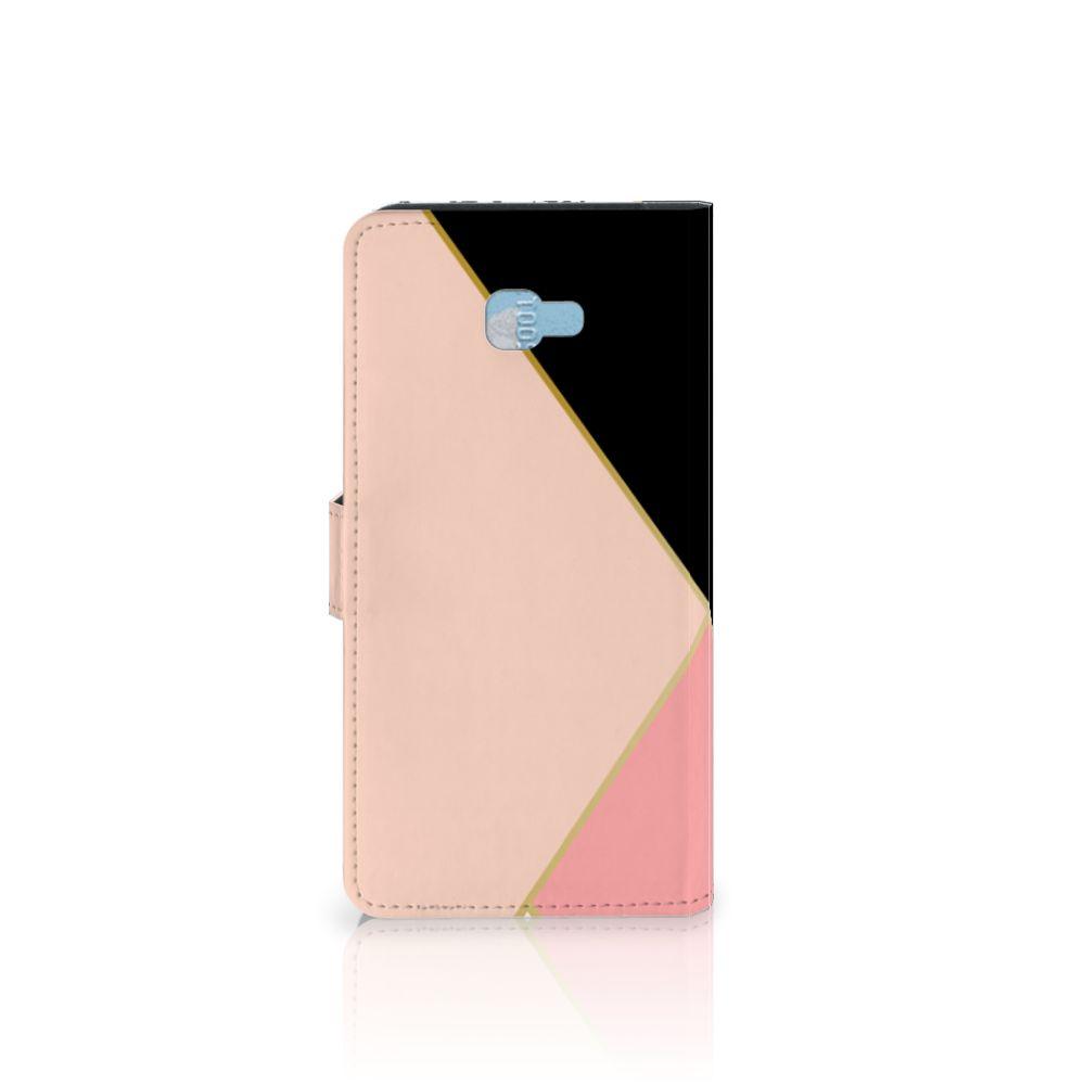 Samsung Galaxy J4 Plus (2018) Bookcase Zwart Roze Vormen