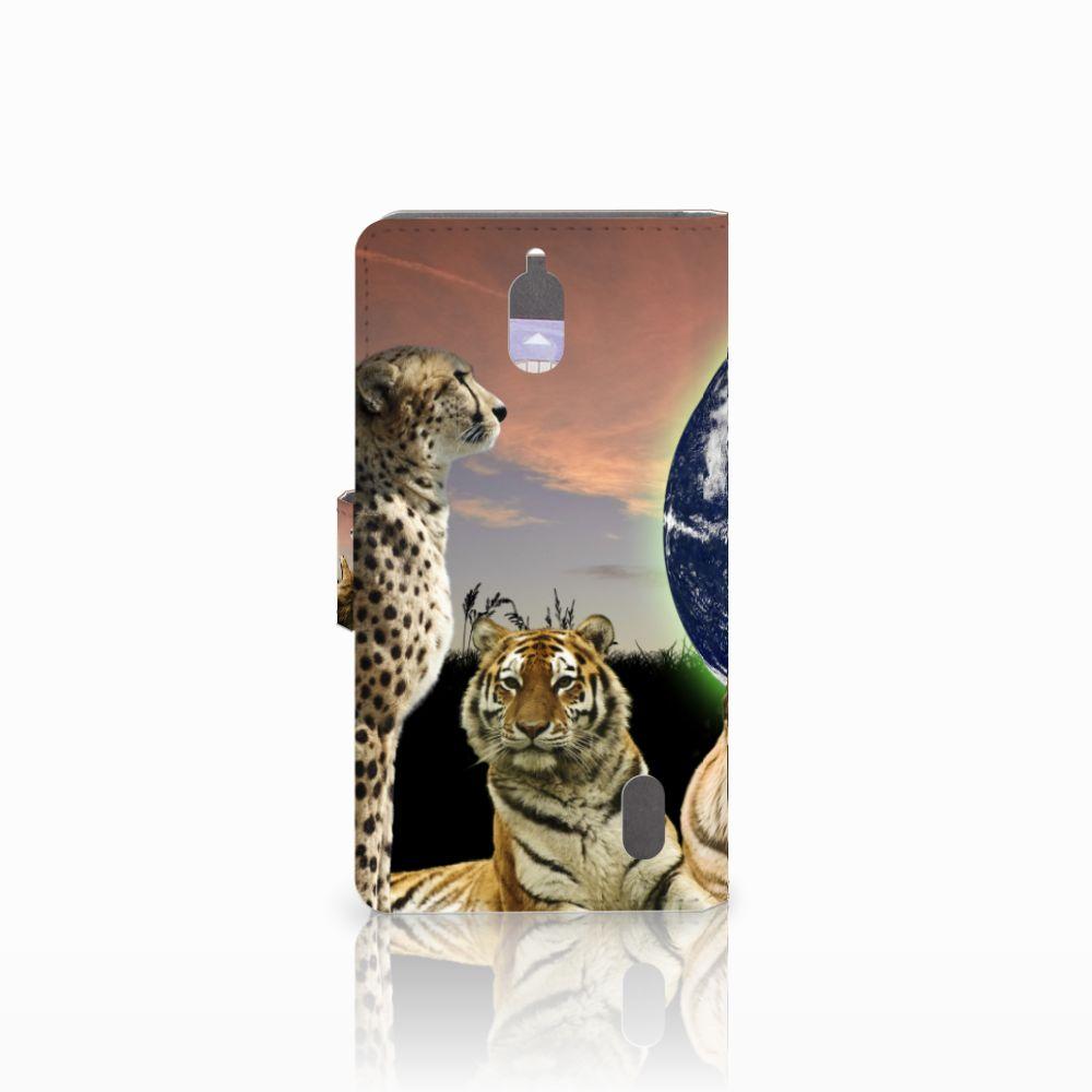 Huawei Y625 Telefoonhoesje met Pasjes Roofdieren