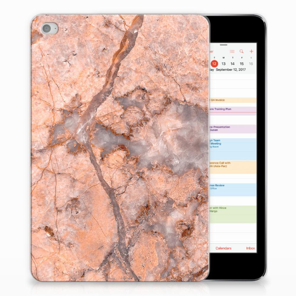 Apple iPad Mini 4 | Mini 5 (2019) Tablet Back Cover Marmer Oranje