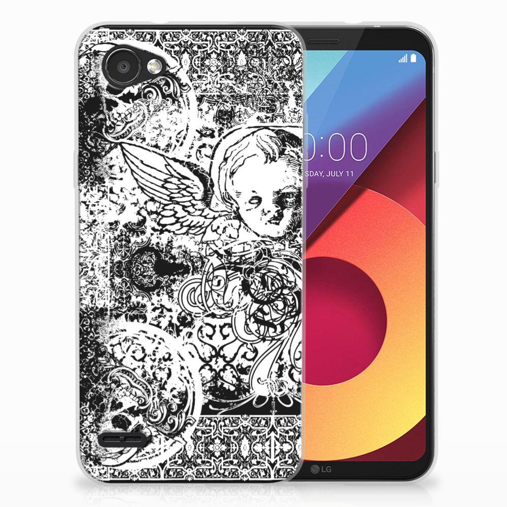 Silicone Back Case LG Q6   LG Q6 Plus Skulls Angel