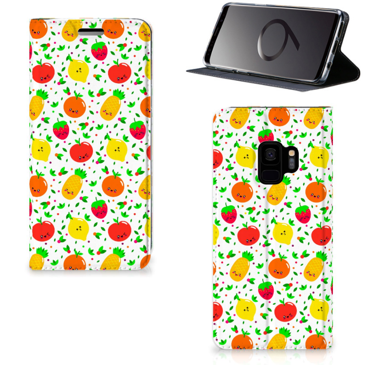 Samsung Galaxy S9 Flip Style Cover Fruits
