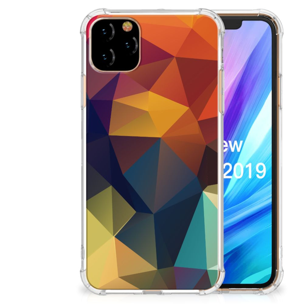 Apple iPhone 11 Pro Max Shockproof Case Polygon Color