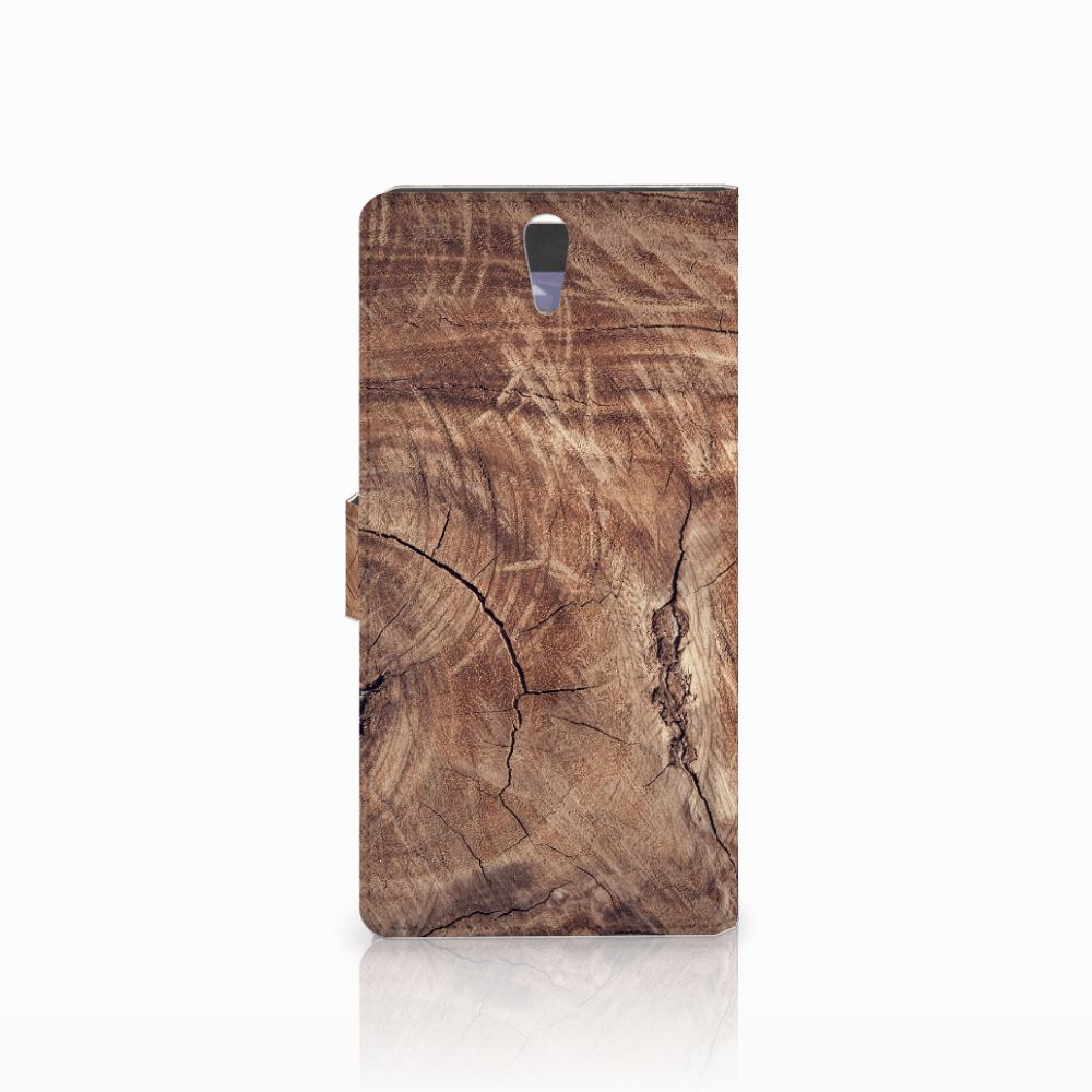 Sony Xperia C5 Ultra Book Style Case Tree Trunk